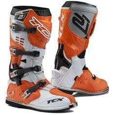 tcx pro 21 off road motocross mx enduro moto botas whiteorange Mx Boots, Bike Boots, Motocross, Orange Boots, Black Boots, Dirt Bike Gear, Helmet Liner, Enduro, Online Bike Store