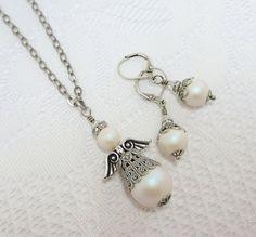 Orecchini di perle Dangles Swarovski bianco perle gioielli