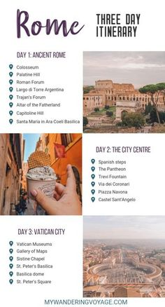 Visit Rome, Italy – the eternal city – and visit some of the most beautiful and historical sites in just three days. Here are the things to do in Rome in 3 days. What to see and do in Rome in three days Italy Travel Tips, Rome Travel, Travel List, Places To Travel, Travel Destinations, Travel Things, Holiday Destinations, Visit Rome, Visit Italy