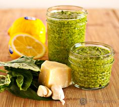 Fresh Basil Pesto... the perfect prescription to doctor up pasta, grilled chicken or salmon, or as a dip!
