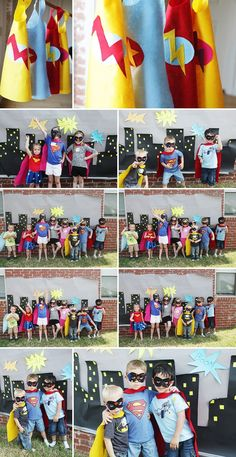 Have everyone dress up as their favorite superhero and have a photo shoot