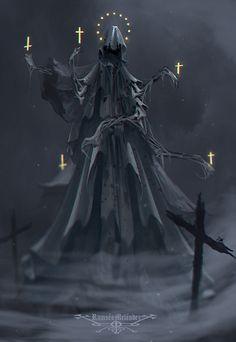 Cemetery Angel (The End of All), Ramses Melendez on ArtStation at https://www.artstation.com/artwork/KEGkR
