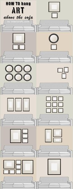 How to hang art above the sofa (infographic)