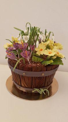 Flowers in a bucket by iratorte