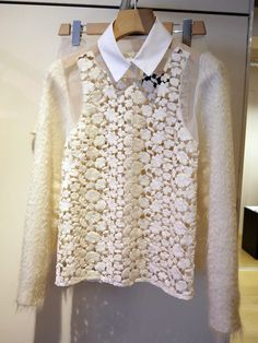 love the Simone Rocha line. what a beautiful shirt. can't wait to see what she comes up with for a/w 13 ..