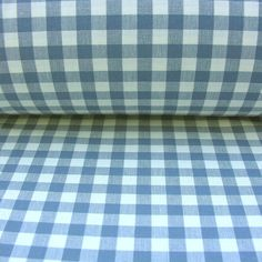A Gingham Checked Fabric For Curtains & Blinds. Curtain Lining, Lined Curtains, Curtains With Blinds, Curtain Fabric, Air Force Blue, Check Fabric, Gingham Check, Louis Vuitton Damier, Pattern