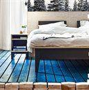 Ikea Watch: Ikea Designers Find Inspiration in 'Home Visits to Real interior Design Ikea Inspiration, Bedroom Inspiration, Tree Wallpaper Bedroom, Ikea France, Ikea New, Blue Floor, Ikea Furniture, The Fresh, Scandinavian