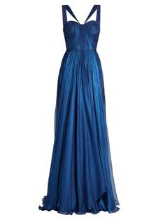 Designer Clothes, Shoes & Bags for Women Silk Evening Gown, Blue Ball Gowns, Blue Evening Dresses, Silk Gown, Long Dresses, Dress Long, Elegant Dresses, Pretty Dresses, Beautiful Dresses