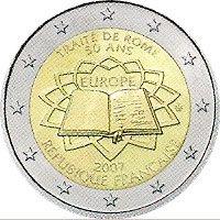 moneda Francia 2 euros 2007 Tratado de Roma, Tienda Numismatica y Filatelia Lopez, compra venta de monedas oro y plata, sellos españa, accesorios Leuchtturm