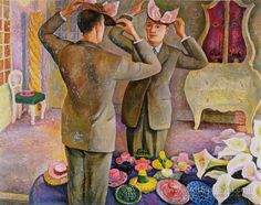 The Milliner. Potrait of Henri de Chatillon - Diego Rivera , 1944 Mexican, Oil on canvas, Diego Rivera Art, Diego Rivera Frida Kahlo, Frida And Diego, Mural Painting, Painting & Drawing, Oil Paintings, Statues, Mexican Artists, Latino Artists
