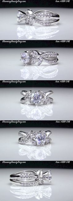 Split Shank Diamond Engagement http://www.bloomingbeautyring.com (213) 222-8868