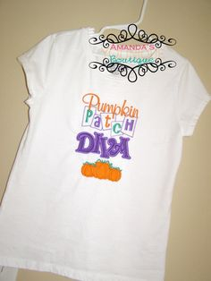 Pumpkin Patch Diva Embroidered Shirt by AYBoutique on Etsy, $22.00