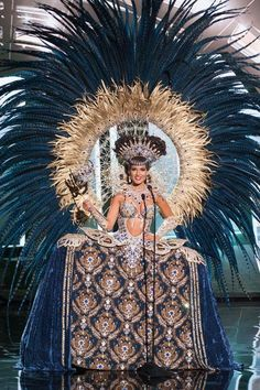 Claudia Barrionuevo Miss Argentina debuts her national costume. The Miss Universe 2015 contest.