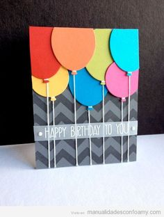 Handmade birthday card ideas with tips and instructions to make Birthday cards yourself. If you enjoy making cards and collecting card making tips, then you'll love these DIY birthday cards! Homemade Birthday Cards, Homemade Cards, Happy Birthday Card Diy, Greeting Cards For Birthday, Ideas For Birthday Cards, Handmade Birthday Gifts, Birthday Crafts, Birthday Presents, Birthday Cards To Make