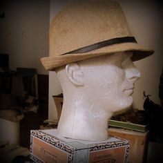 Your place to buy and sell all things handmade Trilby Hats, Man About Town, Vintage Hipster, Brass Buckle, Natural Linen, Detail, Antiques, Leather, Men