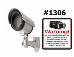 1 VAS #1306 Outdoor IR Dummy Camera Blinking LED W (1) #140 Decal by VAS First Response. $16.75. Series 30 Product Description: #4306 Now you can deter robbery, theft, and vandalism without the high cost of a real outdoor security camera. When placed outside your home or business, even the most sophisticated criminals will think the premises is guarded by a high-tech surveillance system and go in search of an easier target. In fact, this is an actual surveillance camera in ou...