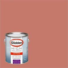 Glidden High Endurance Paint, Indian Summer Orange #30YR 26/330 Eggshell 1 Gallon (Base UPC 0113118440267) Color Indian Summer Orange
