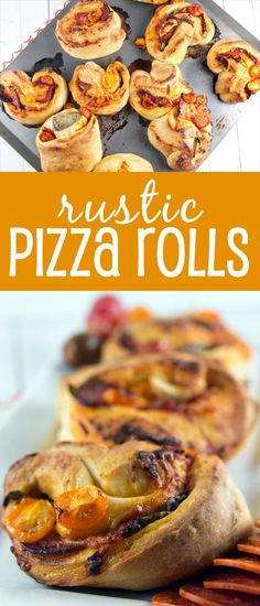 Rustic Pizza Rolls: a quick food processor dough filled with fresh basil and…