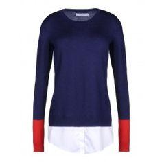 Altuzarra Walkaloosa Layered Sweater - Wool Sweater - ShopBAZAAR