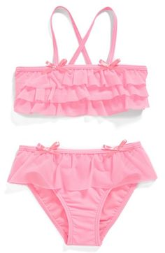 Toddler Girl's Hula Star 'Princess Aurora' Ruffle Two-Piece Swimsuit