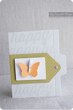Diagonal Stripes Background, Happy Birthday Background, Happy Everything, Butterflies Die-namics, File Folder Edges Die-namics, Tag Builder Blueprints 1 Die-namics - Keisha Campbell #mftstamps