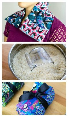 Sewing Gifts DIY Aromatherapy heat wraps - the perfect gift to sew! - This week I suddenly needed last minute gifts for some ladies that I've been working with. Panda Forest inspired me to make spa gifts - I sewed up rice heat wraps with aromatherapy. Diy Sewing Projects, Sewing Projects For Beginners, Sewing Hacks, Sewing Tutorials, Sewing Crafts, Sewing Tips, Dress Tutorials, Diy Gifts Sewing, Christmas Sewing Gifts