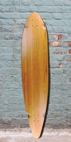 "Longboards USA - 44"" x 10"" Bamboo Pintail Longboard Deck, $55.00 (http://longboardsusa.com/holiday-sale/holiday-gift-guide-2015/great-holiday-longboard-gifts-under-100/44-x-10-bamboo-pintail-longboard-deck/)"