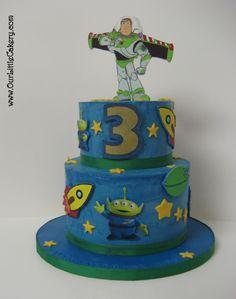 Toy Story Buzz Light year cake www.ourLittlecakery.com Fresno CA 559-999-2649