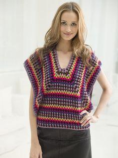 Sparkle Slipon free crochet pattern from Lion Brand Yarn