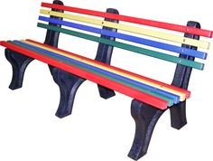 This rainbow bench is one of our best sellers perfect to brighten any dull area