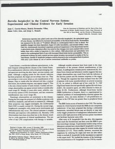 """1990. Early CNS Invasion in """"Lyme Disease"""""""