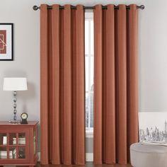 VCNY Jasmine Blackout Single Curtain Panel Color: Spice