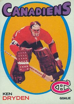 Ken Dryden rookie card (1971-72 Topps)