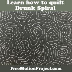 How to Quilt Drunk Spiral #468                                                                                                                                                                                 More