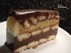 Chocolate y Pimienta: Tarta de natillas dos colores