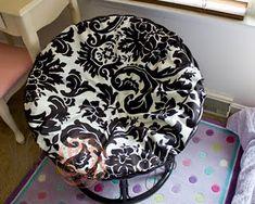 Superb No Sew Papasan Chair Cover