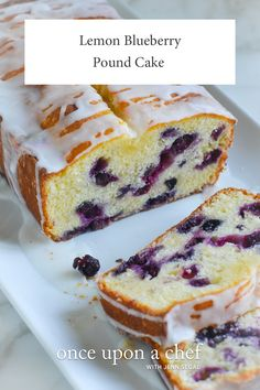 TESTED AND PERFECTED RECIPE -- Loaded with blueberries and bright flavor, this lemon blueberry pound cake makes a wonderful brunch or anytime cake. Lemon Blueberry Pound Cake, Blueberry Bread, Blueberry Lemon Recipes, Fruit Bread, Blueberry Desserts, Lemon Desserts, Dessert Bread, Pound Cake Recipes, Pound Cakes
