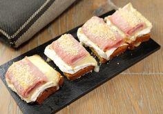 Toasts de pain d'épices, Chaource, jambon et moutarde | Croquons La Vie - Nestlé