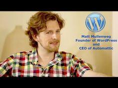 Matt Mullenweg; Founder of WordPress Shares Everything - YouTube