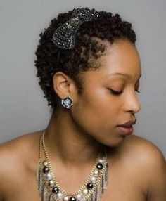 Curly TWA with Bow Accessory