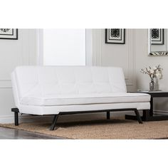 Abbyson Living Newport Double Cushion Convertible Sofa - Overstock™ Shopping - Great Deals on Abbyson Living Futons