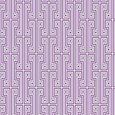 Purple geometric wallpaper from Jonathan Adler