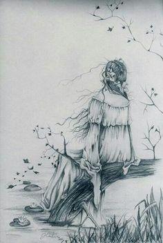 Illustration gothic girl by ARTEILA