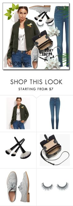 """""""ROMWE"""" by rizvic95 ❤ liked on Polyvore featuring River Island, J.Crew, Gap and Unicorn Lashes"""