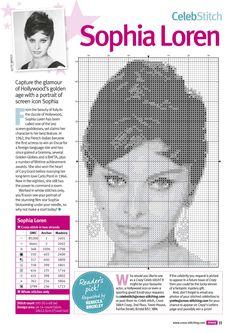 Sophia Loren x-stitch