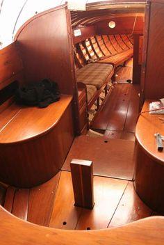Sailboat Interior, Yacht Interior, Classic Sailing, Classic Yachts, Sailing Lessons, Wooden Sailboat, Wood Boats, Boat Stuff, Sailboats