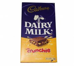 Cadbury Dairy Milk With Crunchie 200g at Rs.395 online in India.