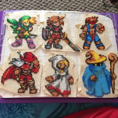 Final Fantasy characters hama mini beads by AmeNoTenshi