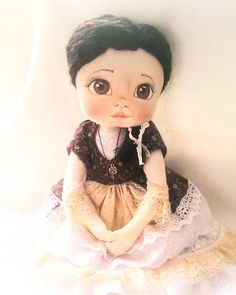 Handmade doll from Kamomilla Design. Ooak Dolls, Art Dolls, Textile Art, Elsa, Doll Clothes, Disney Characters, Fictional Characters, Textiles, Hand Painted