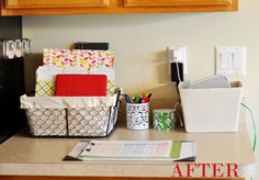 Tips for getting & keeping your home in order.  Plus create a Kitchen Command Center!
